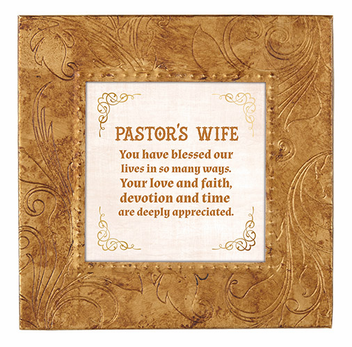 Heartfelt Copper Pastor's Wife Touch of Vintage Frame Picture