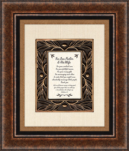 Heartfelt For Our Pastor and His Wife Framed Wall Art Picture