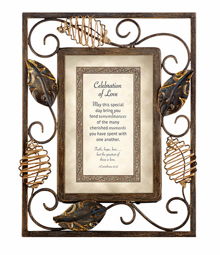 Heartfelt Heartwarming Expressions Celebration of Love - I Corinthians 13:13 Tabletop Picture