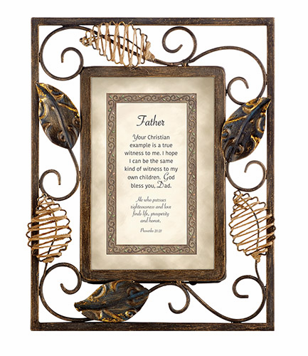 Heartfelt Heartwarming Expressions Father - Proverbs 21:21 Tabletop Picture