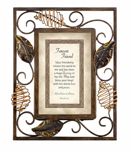 Heartfelt Heartwarming Expressions Forever Friend - Proverbs 17:17 Tabletop Picture