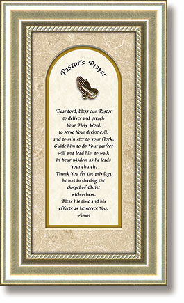 Heartfelt Pastor's Prayer with Praying Hands Framed Picture
