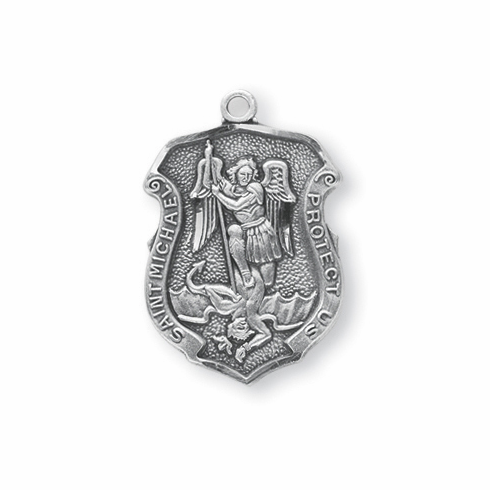 Very HMH Religious Badge Shaped St Michael Police Officer Protect Us  GW55