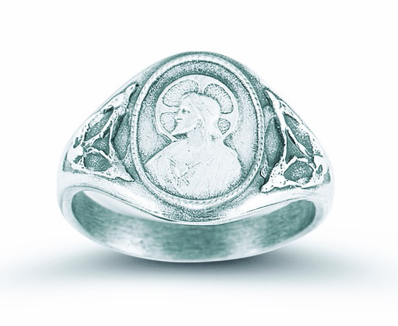HMH Religious Sacred Heart of Jesus Sterling Silver Ring