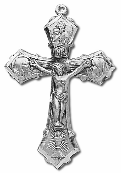 Holy Family Sterling Silver Crucifix Catholic Rosary Part by HMH Religious