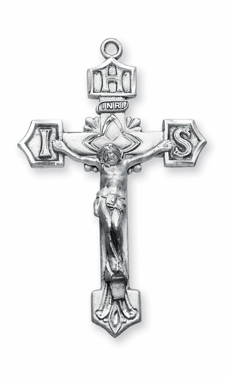 IHS Sterling Silver Crucifix Catholic Rosary Part by HMH Religious
