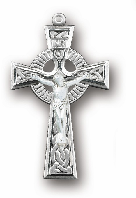 Irish Celtic Sterling Silver Rosary Crucifix by HMH Religious
