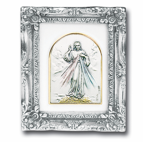 Jesus Divine Mercy Sterling Image Antique Silver Framed Picture by ...