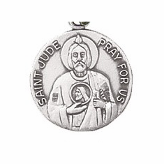 Jeweled Cross Male Patron Saint Dime Size Jewelry