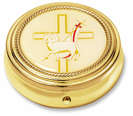 Lamb with Cross Holy Communion Host Pyx by Stratford Chapel
