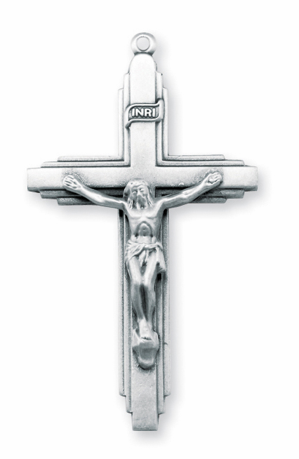 Layer Cross Crucifix with INRI Sterling Silver Rosary Part by HMH Religious