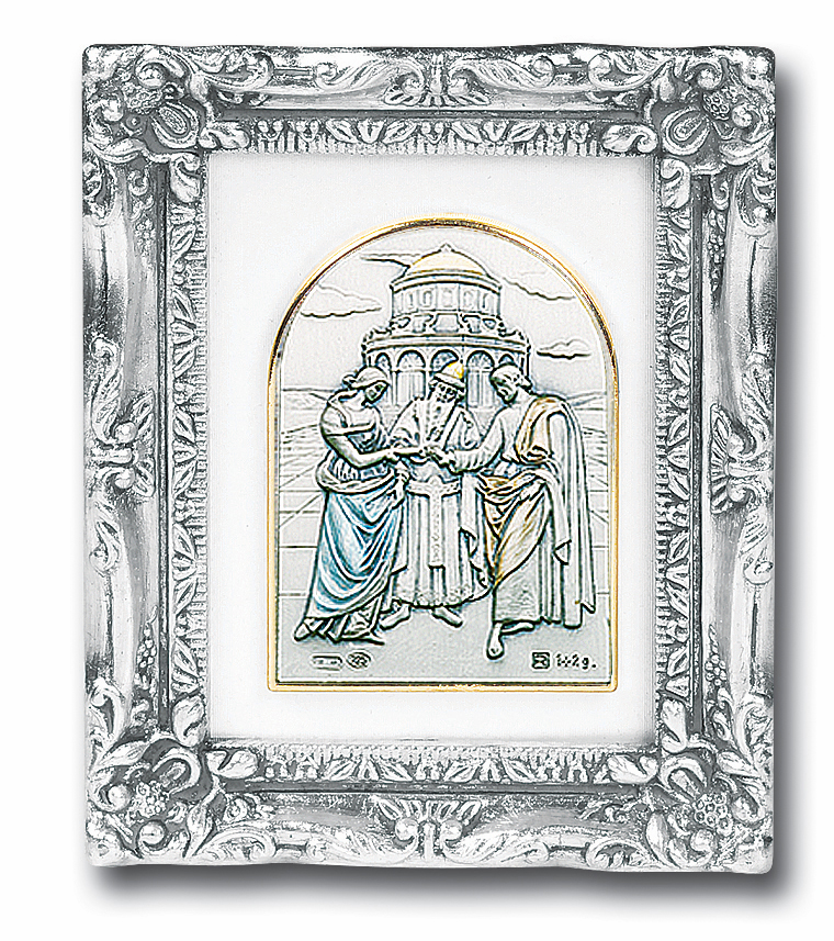 Marriage/Wedding Sterling Silver Image Antique Silver Framed Picture by Salerni Collection