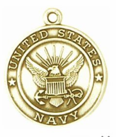 Navy Gold-filled Medals