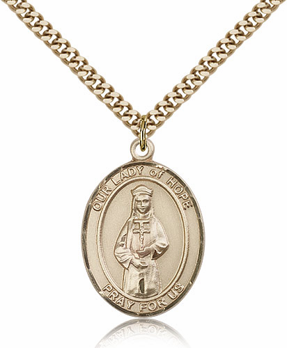 Our Lady of Hope Gold-filled Patroness Saint Medal Necklace by Bliss