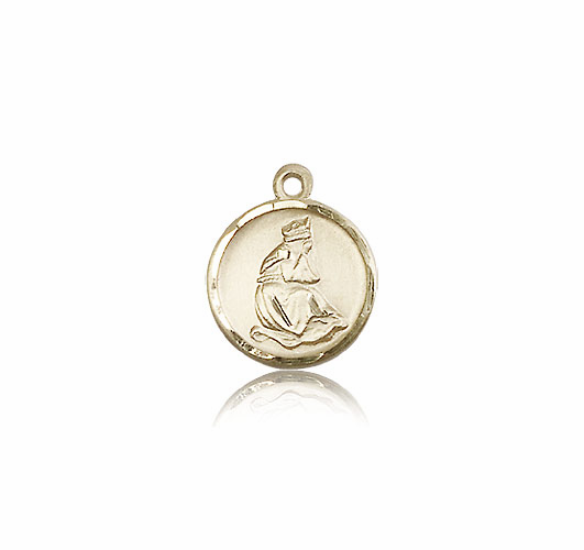 Our Lady of La Salette 14kt Gold Round Pendant Medal by Bliss Manufacturing