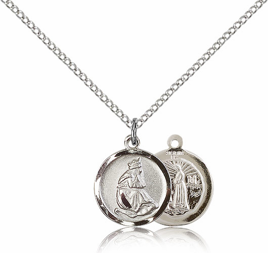 Our Lady of La Salette Sterling Silver Pendant Necklace by Bliss Manufacturing