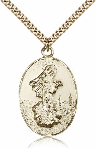 Our Lady of Medugorje 14kt Gold-filled Pendant Necklace by Bliss Manufacturing
