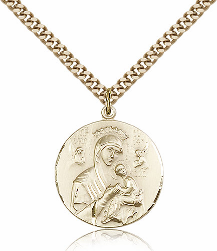 Our Lady of Perpetual Help 14kt Gold Filled Pendant Necklace by Bliss