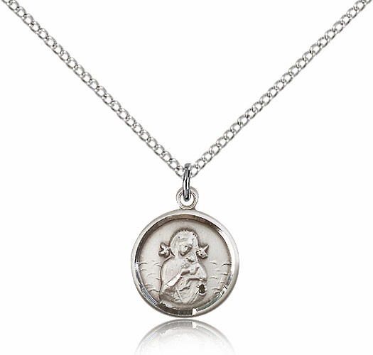 Our Lady of Perpetual Help Sterling Silver Pendant and Chain by Bliss Manufacturing