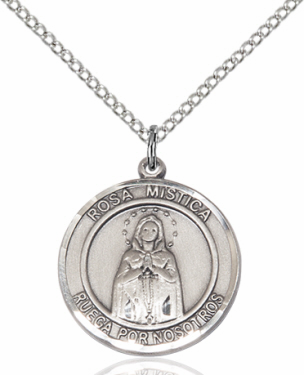 Our Lady Rosa Mystica Spanish Pendant Necklace by Bliss