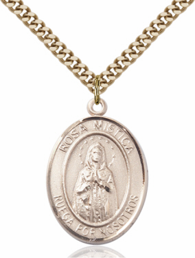 Rosa Mistica/Our Lady of Rosa Mystica 14kt Gold-Filled Pendant Necklace by Bliss