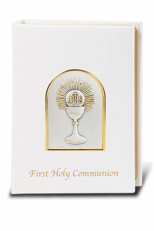 Salerni Sterling Silver Chalice First Holy Communion White Missal