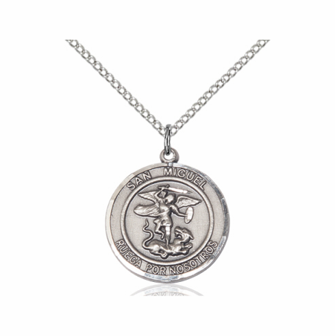 st mens saint necklace men michael s dp com jewelry amazon pendant