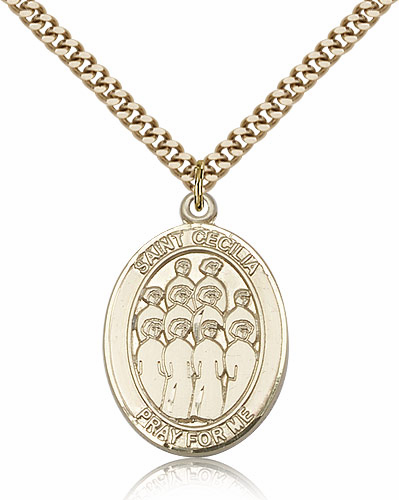 St Cecilia Choir Sports 14kt Gold-Filled Pendant Necklace by Bliss
