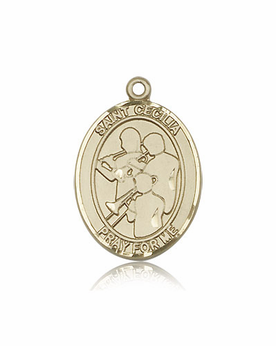 St Cecilia Marching Band 14kt Gold Sports Medal Pendant by Bliss