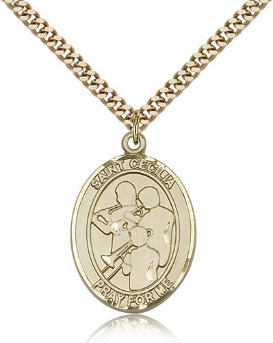 St Cecilia Marching Band Sports 14kt Gold-Filled Pendant Necklace by Bliss