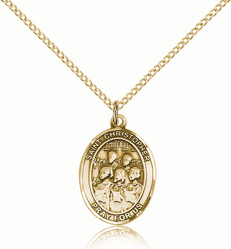 St Christopher Choir Sports 14kt Gold-Filled Pendant Necklace by Bliss