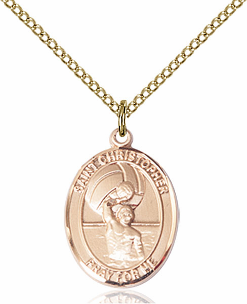St Christopher Water Polo-Men Sports 14kt Gold-Filled Pendant Necklace by Bliss