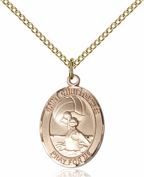 St Christopher Water Polo-Women Sports 14kt Gold-Filled Pendant Necklace by Bliss