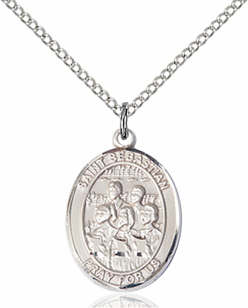 St Sebastian Choir Sports Sterling Silver Pendant Necklace by Bliss