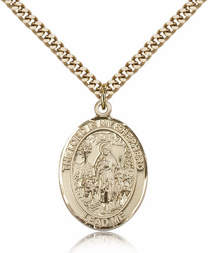 The Lord Is My Shepherd 14kt Gold-filled Saint Necklace by Bliss
