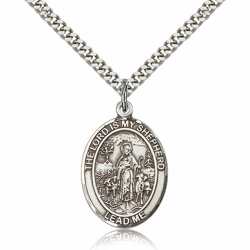 The Lord Is My Shepherd Patron Saint Sterling Silver Necklace by Bliss