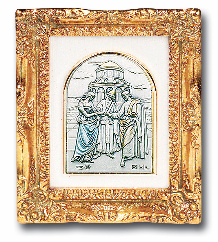 Wedding at Cana Sterling Image Antique Gold Framed Picture by Salerni