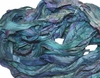 10 Yards Sari SILK Ribbon Aqua Blue