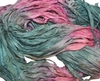 10 Yards Sari SILK Ribbon Aqua Pink