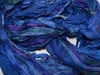 10 Yards Sari SILK Ribbon Blue