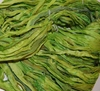 10 Yards Sari SILK Ribbon Bright Green