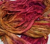 10 Yards Sari SILK Ribbon Hot Pink Yellow