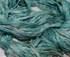 10 Yards Sari SILK Ribbon Lark Green