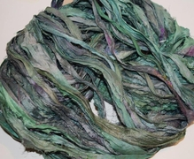 10 Yards Sari SILK Ribbon Ocean Green