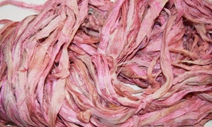 10 Yards Sari SILK Ribbon Peach Pink