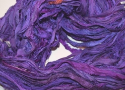 10 Yards Sari SILK Ribbon Purple Fuchsia