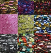 135 yrds 9 colors Ladder Trellis Yarn for 9 necklaces mix lot 14