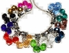 Crystal bead cluster Charm with Large Hole Bead - Set of 12 for European bracelets, spacer beads mix
