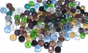 200 beads mix Crystal Beads 8mm AB Faceted Round Mix lot