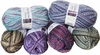 100g GERMAN Self Striping SuperWash SOCK Yarn SNOW